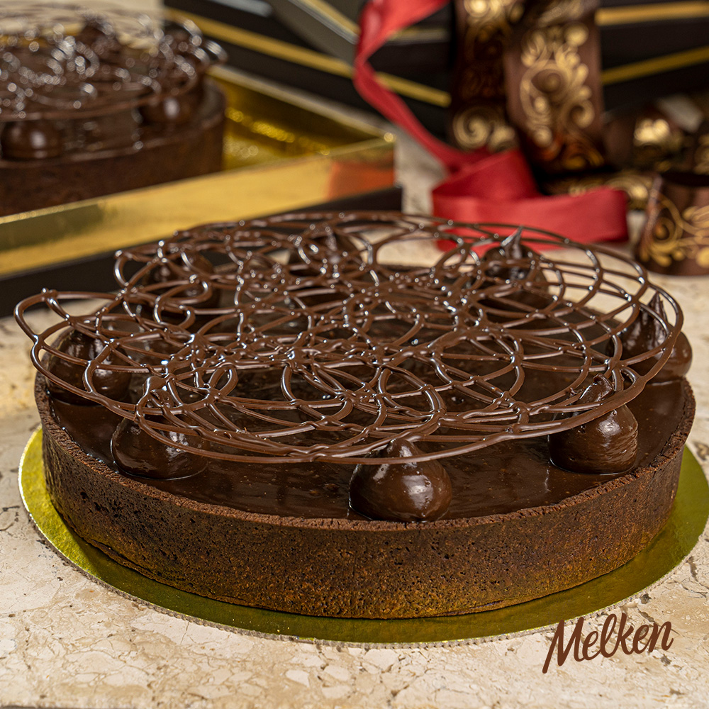 torta chocolate melken arabesco top